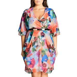 Flowy floral Plus size dress